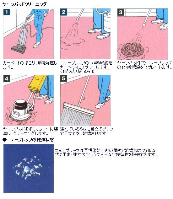 カーペット洗浄剤 『ニュープレップ』使用方法